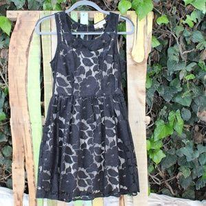 Monteau Los Angeles mini dress black lace